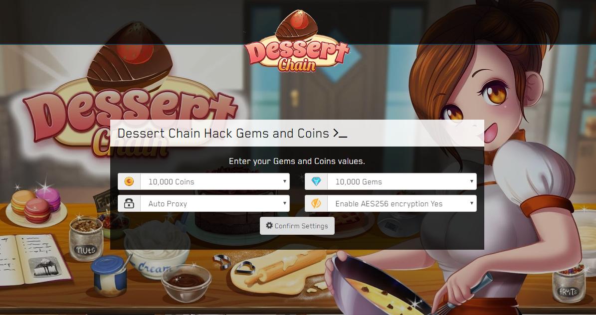 Dessert Chain Online Hack MOD Get Unlimited Coins Gems