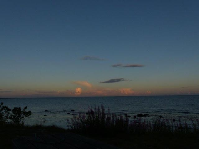 Schweden Urlaub Anreise Camping Urlaub mit Hund Ystad Meer Küste Entspannung Ankommen Abend Sommer Sonnenuntergang