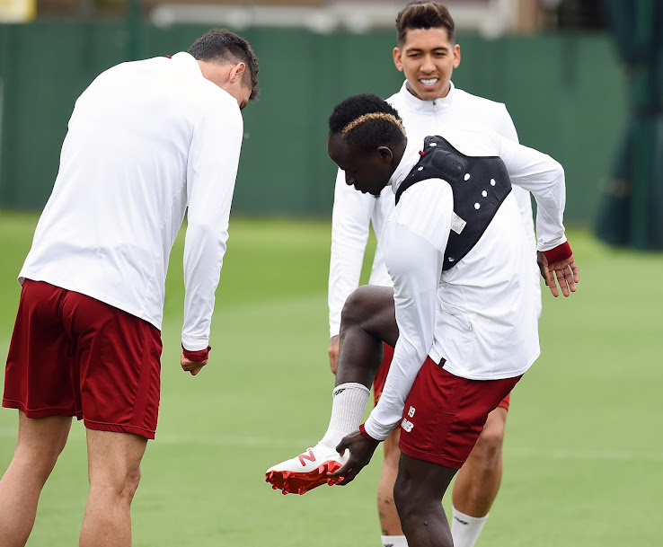 f2b7e6a2f No More Nike - Liverpool s Sadio Mané Trains in Next-Gen New Balance Boots  With Champions League Personalization