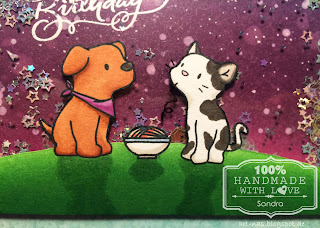 Playful Pups und Purrfect Pair von Mama Elephant coloriert mit Copic Markern