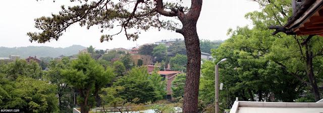 Vista de la montaña Samgaksan del templo Gilsangsa