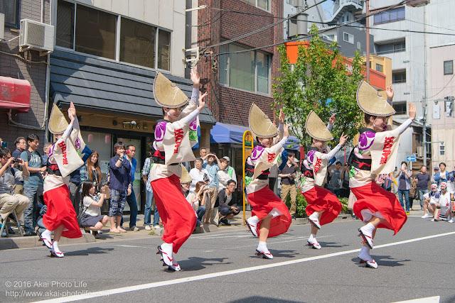 江戸っ子連、女踊り、マロニエ祭り流し踊り中の演舞の写真 その2