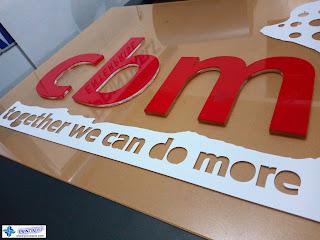 Solid Acrylic Logo Signage