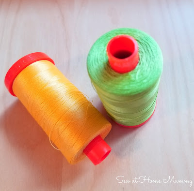 Yum! Aurifil 50wt threads photographed by Sew at Home Mummy