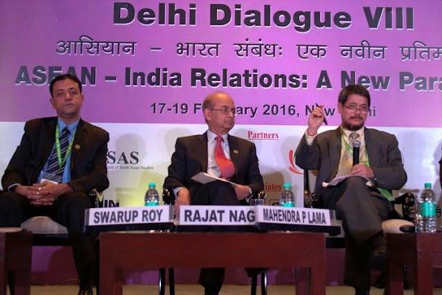 Dr. Mahendra P Lama addresses India-ASEAN Delhi Dialogue VIII