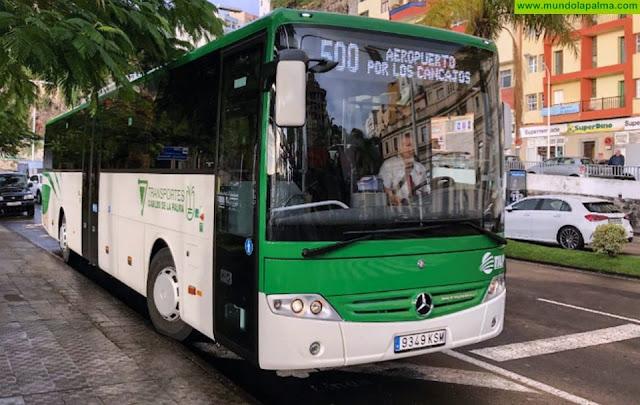 Transportes Insular, atiende la petición de Breña Alta y, apuesta por reforzar la línea 300 con paso y parada en San Pedro
