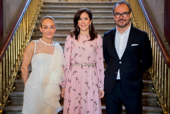 Crown Princess Mary wore Art Fusion Copenhagen Frieda chiffon dress. Global Fashion Agenda