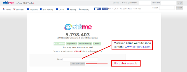 Situs Chkme.com cek SEO