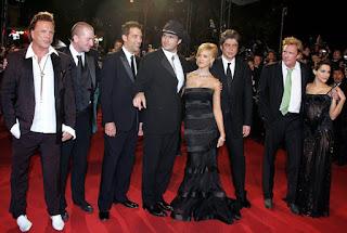 Robert Rodriguez y parte del reparto de Sin City en el Festival de Cannes