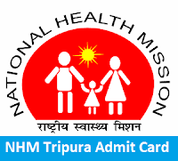 NHM Tripura Admit Card
