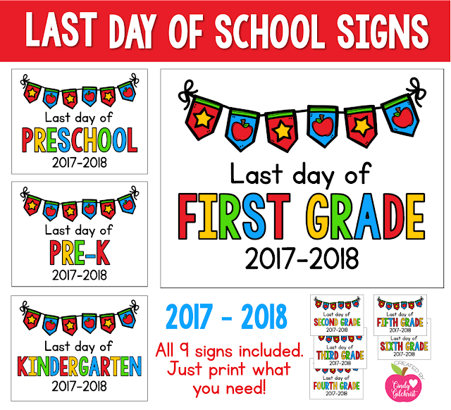 https://www.teacherspayteachers.com/Product/LAST-Day-of-School-Signs-2017-2018-FREEBIE-Preschool-PreK-Kinder-1st-2nd-3132305