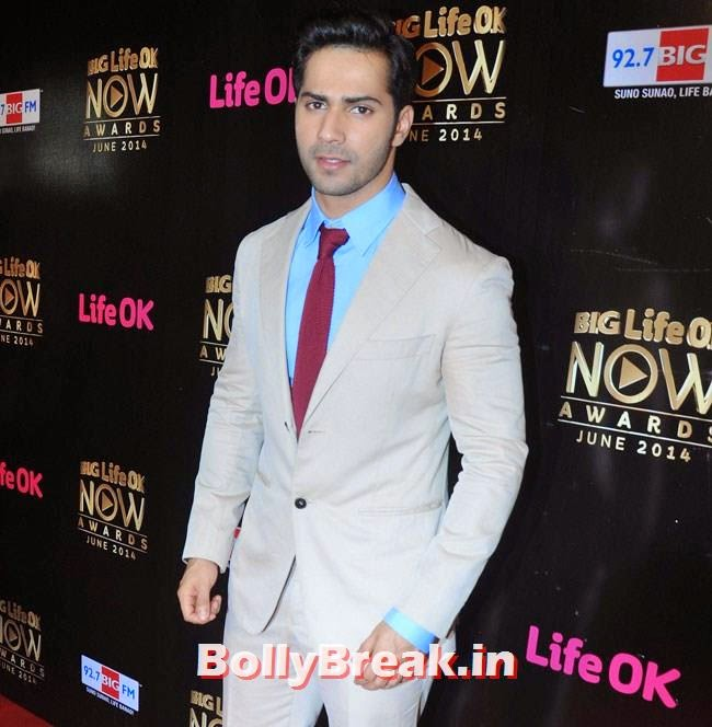 Varun Dhawan, Life OK Now Awards 2014 Red Carpet Pics
