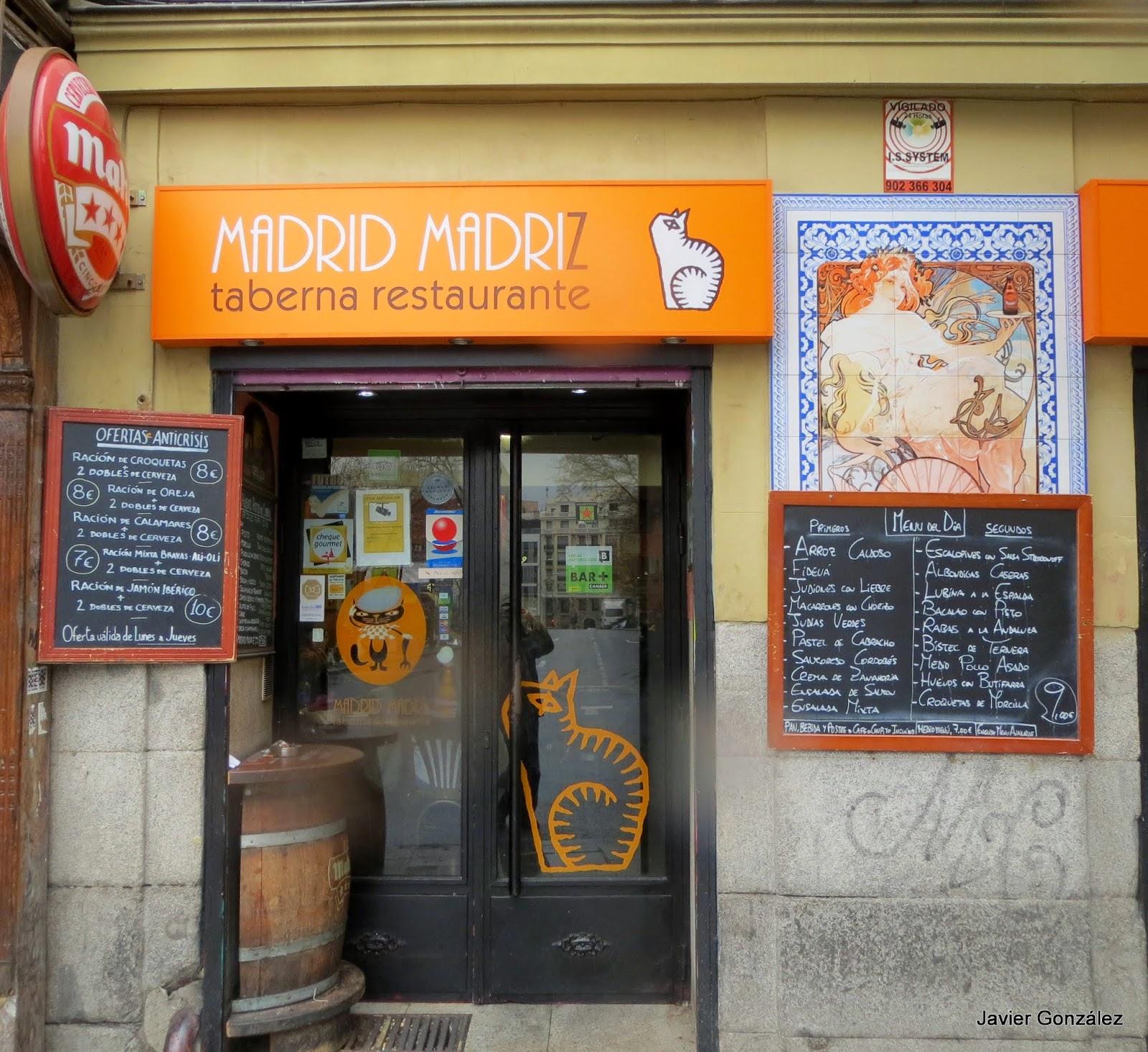 Taberna Madrid Madriz