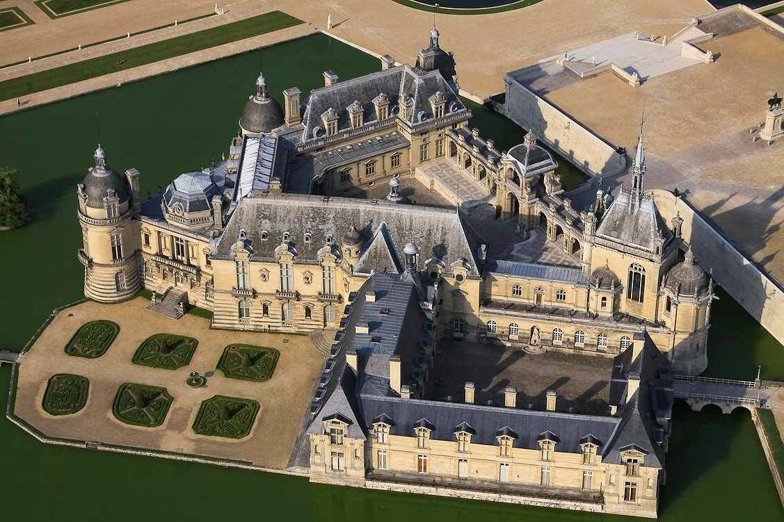 Castelo de Chantilly, Ile de France, França.