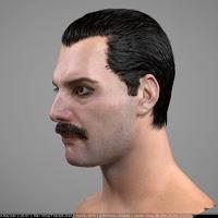 3d model of Freddie Mercury singer head