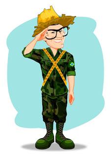 caricatura de soldado