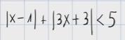 2.Inecuación de primer grado con varios valores absolutos 2