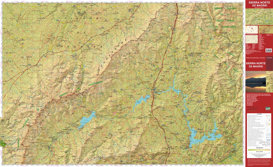 El Blog De Calecha Sierra Norte De Madrid Mapa Excursionista Y