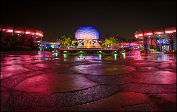 Future World at night in EPCOT
