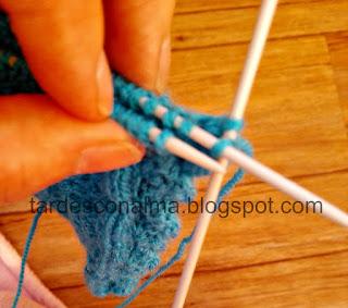 diy, tutorial, paso a paso, handmade, craft, lana, tricotar, calceta, 2 agujas