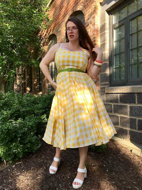 Pretty Dress Company Priscilla yellow gingham swing review