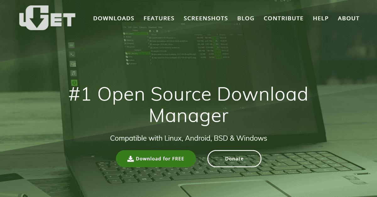 uGet 開源免費下載管理器