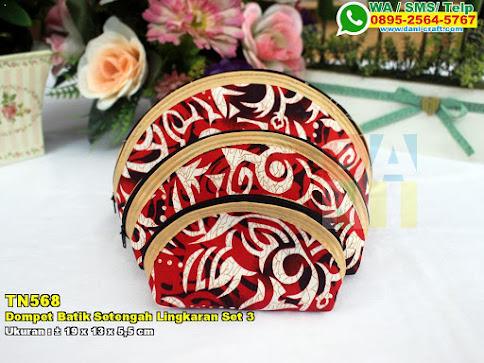 Dompet Batik Setengah Lingkaran Set 3
