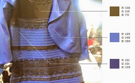 Using science to find the answer to internet's burning question , what color is this dress via geniushowto.blogspot.com dress that broke the internet
