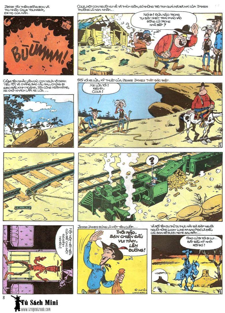 Lucky Luke tap 16 - jesse james hiep si rung xanh trang 10
