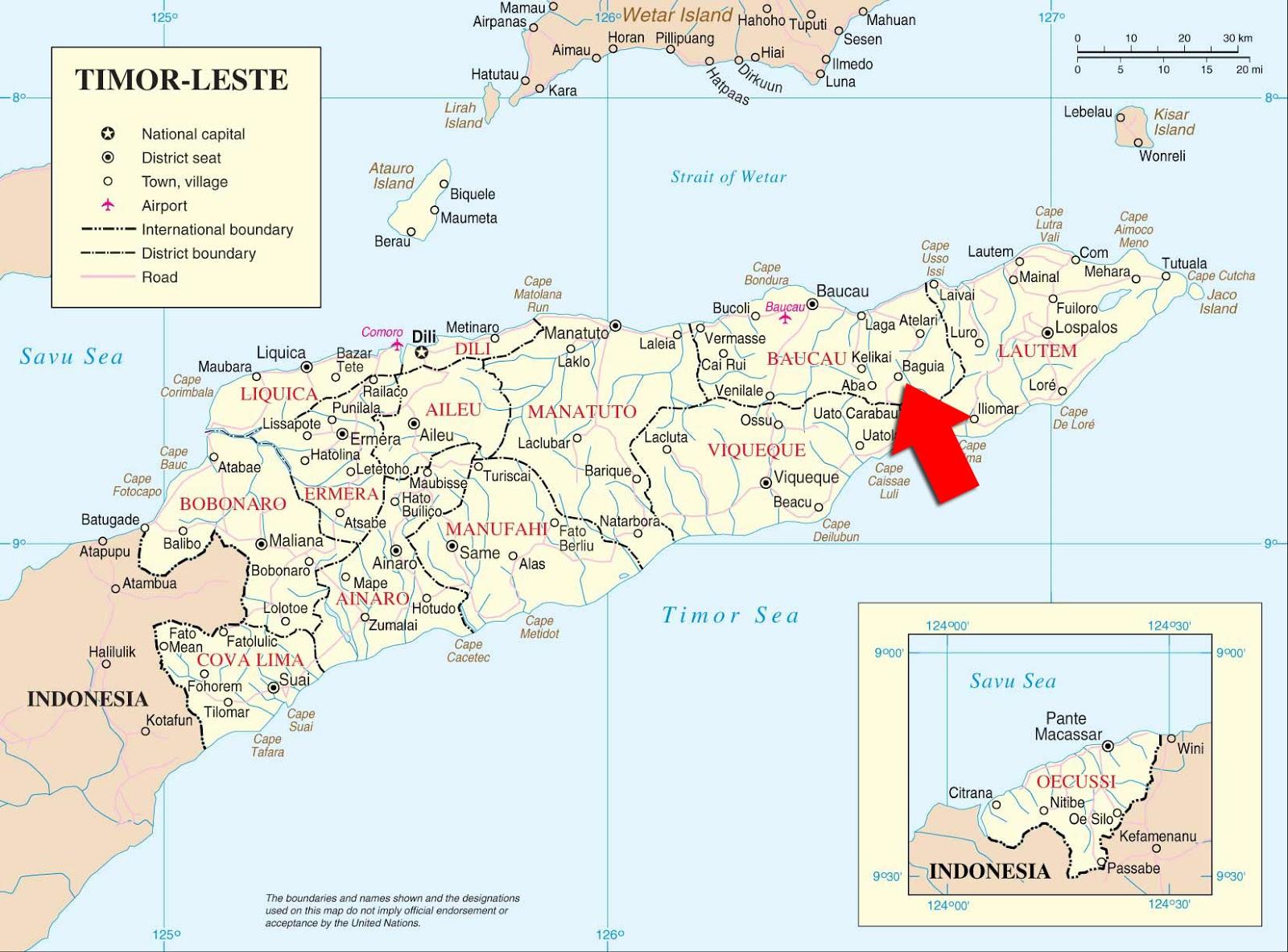 Mapas Geográficos de Timor-Leste