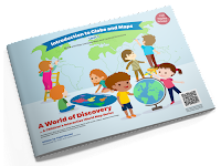Introduction to Globe and Maps - Unit 1 Interactive World Map Book Series by Vitamin Simple