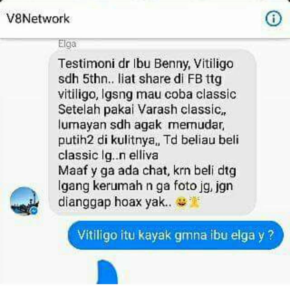 Menderita Vitiligo Kesehatannya Semakin Membaik Karena Varash Oil Classic Healing Minyak Asli Denpasar Bali