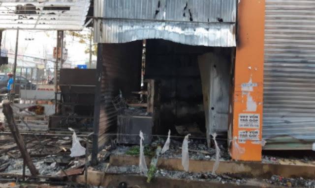 Vụ cháy thiêu rụi shop hoa khiến 2 người tử vong