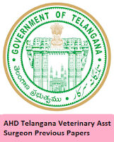 AHD Telangana Veterinary Assistant Surgeon Previous Papers