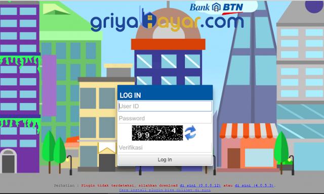 Gambar Tampilan Aplikasi Transaksi PPOB BTN Via PC