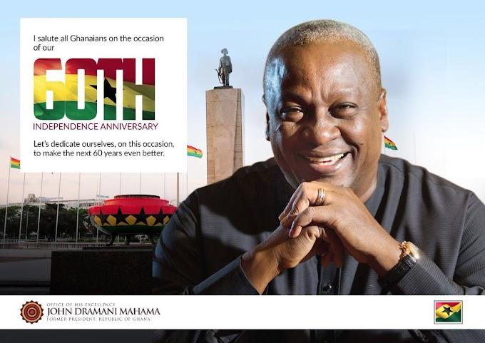 #GhanaAt60; Let's make Ghana's next 60 years even better – Mahama