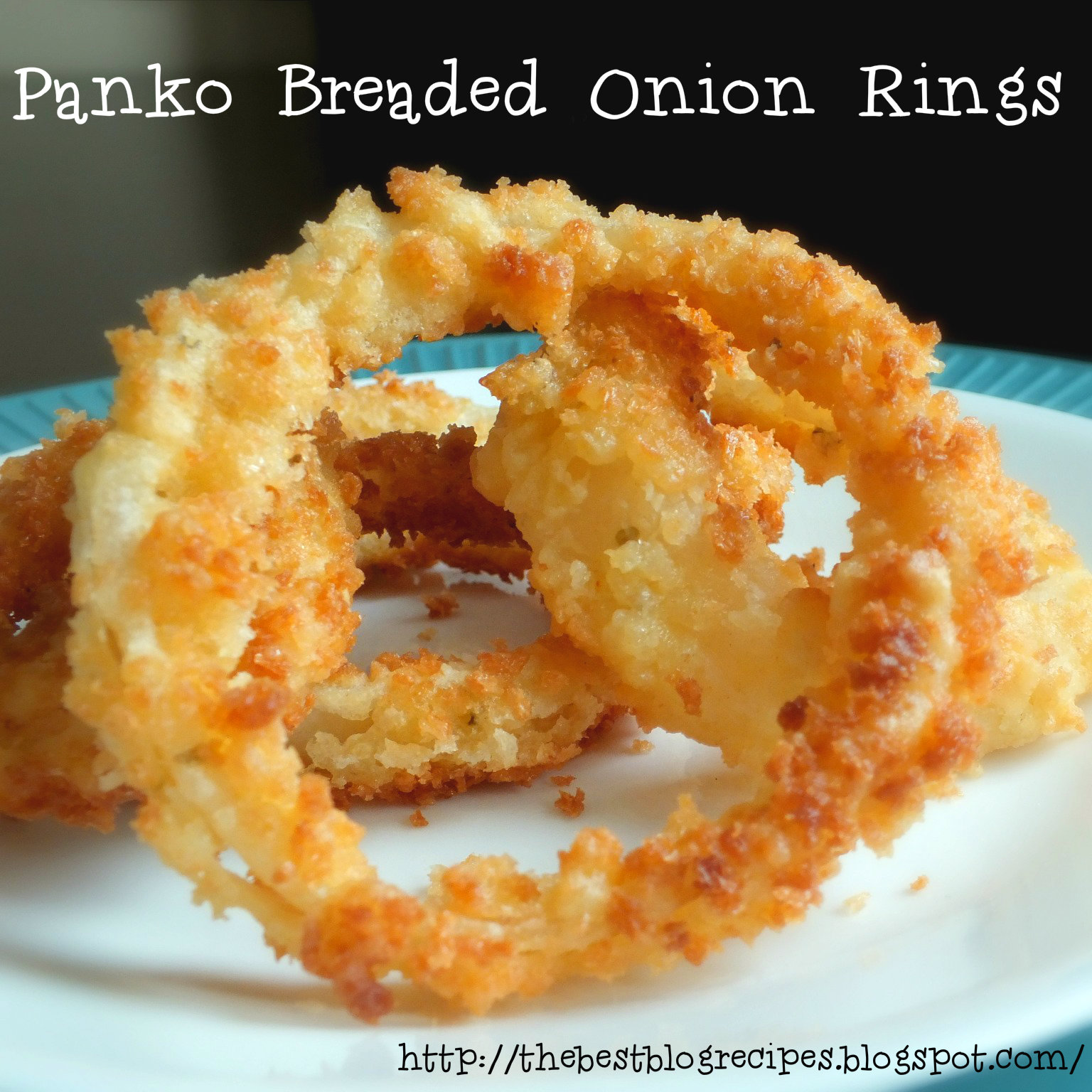 Panko Breaded Onion Rings from {The Best Blog Recipes}