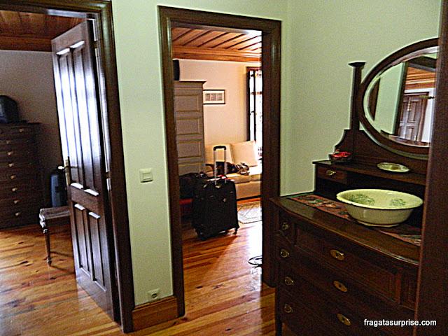 quartos da hospedaria rural Casa São Faustino de Fridão, em Amarante
