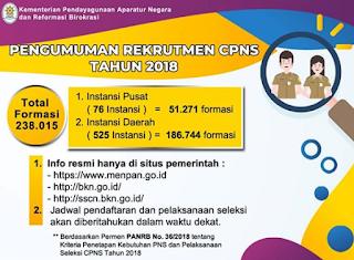 Alur Pendaftaran CPNS 2018 Hanya Dilakukan Lewat SSCN.BKN.GO.ID
