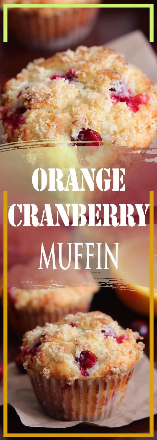 ORANGE CRANBERRY MUFFIN RECIPE