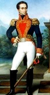 Dibujo de Simón Bolivar de cuerpo completo