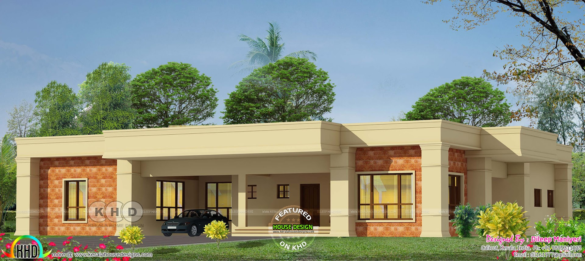 Single Floor Arabic Style House With 4 Bedrooms Kerala Home Design And Floor Plans 8000 Houses