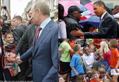 Politiker in Menschenmenge - Vergleichsbilder Bodyguards lustig