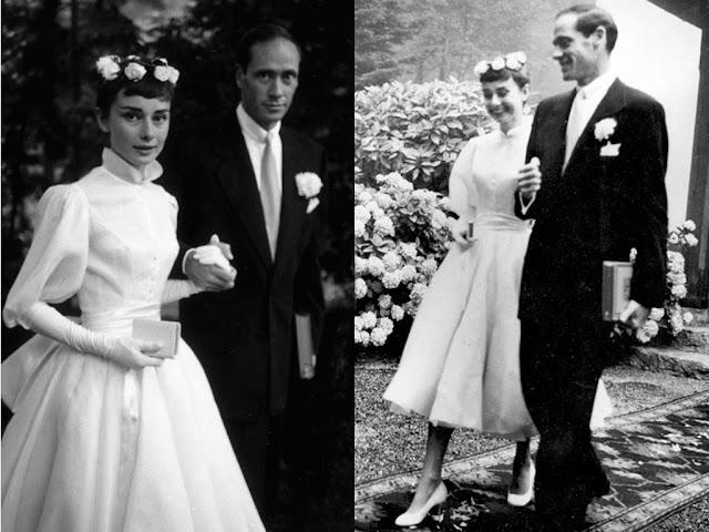 Audrey Hepbur vestido de noiva anos 50