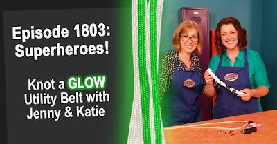 Knot a GLOW Superhero's Utility Belt on Hands On Crafts for Kids