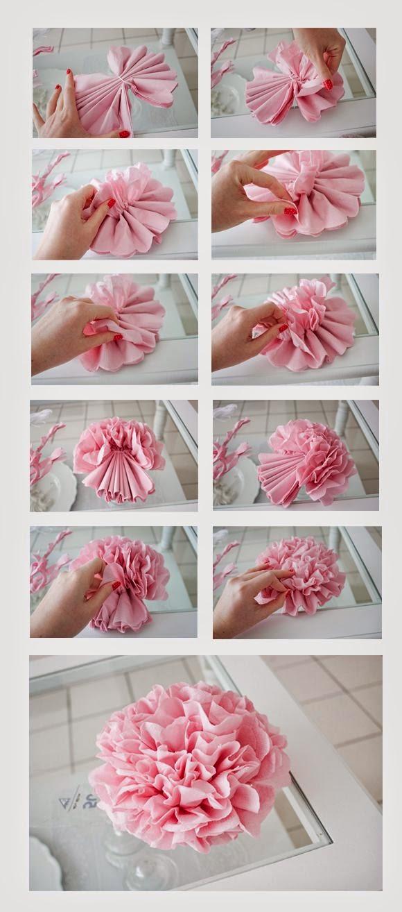 sencilla forma de hacer pompones para decorar tu baby shower