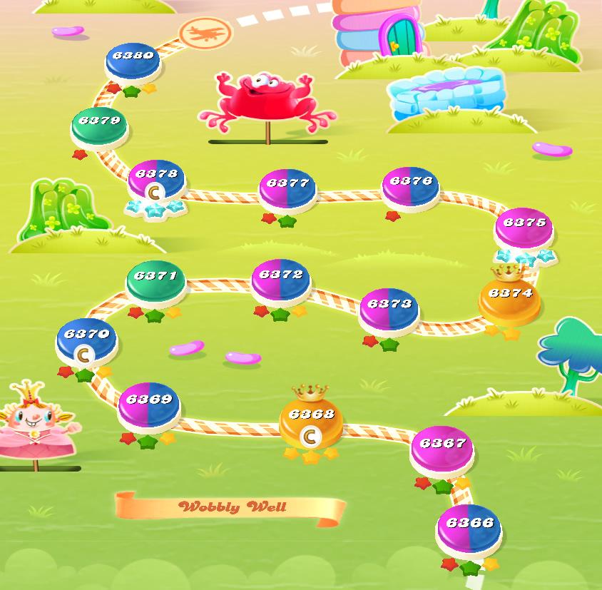 Candy Crush Saga level 6366-6380
