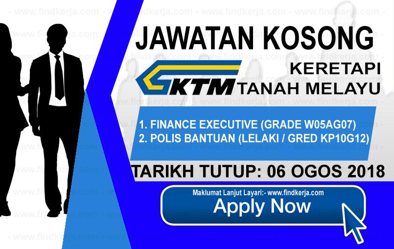 Jawatan Kerja Kosong KTMB - Keretapi Tanah Melayu Berhad logo www.ohjob.info www.findkerja.com ogos 2018