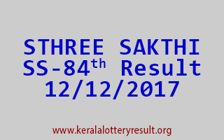 STHREE SAKTHI Lottery SS 84 Results 12-12-2017