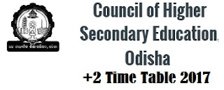 Odish +2 Time Table 2017